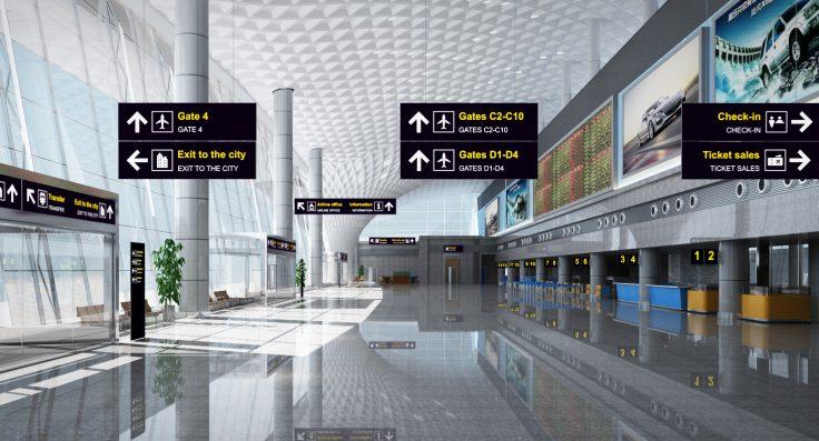 Αεροδρόμιο με σήμανση Lumaire
